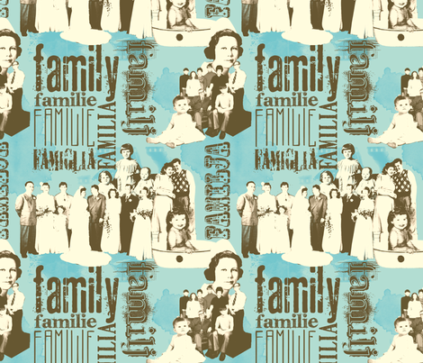 FamilyForever fabric by tammikins on Spoonflower - custom fabric