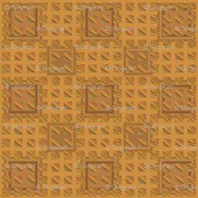 Oak Tiles in Gold © 2010 Gingezel Inc.