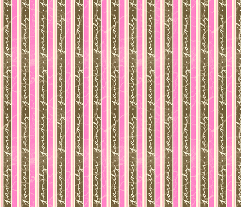 FamilyStripes-Pink fabric by tammikins on Spoonflower - custom fabric