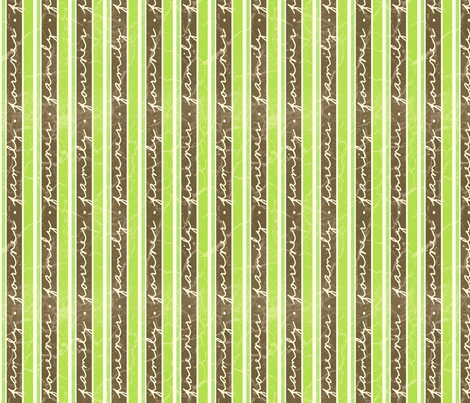 FamilyStripes-Green fabric by tammikins on Spoonflower - custom fabric
