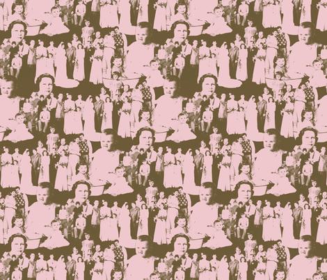 FamilyFaces-Purple fabric by tammikins on Spoonflower - custom fabric