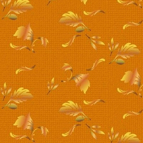Hardwood Leaves in gold © 2011 Gingezel Inc.