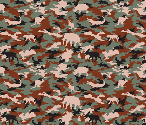 camoflarge_safari fabric by snow&water on Spoonflower - custom fabric