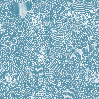 Spikes and Circles - Blue