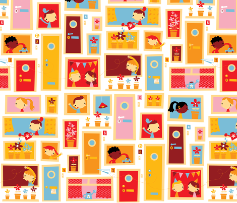 Happy Home fabric by bora on Spoonflower - custom fabric