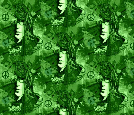 Camo John World Peace & Love fabric by paragonstudios on Spoonflower - custom fabric