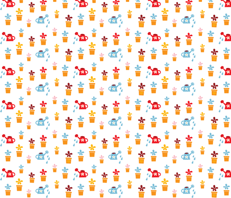 Happy Home Flowers fabric by bora on Spoonflower - custom fabric