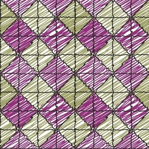 Purple and Green Argyle by Hand © ButterBoo Designs 2010