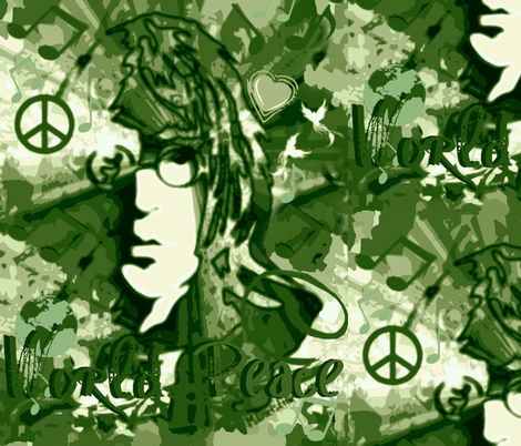 Camo Lt. John World Peace & Love fabric by paragonstudios on Spoonflower - custom fabric