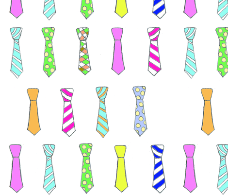 Happy Ties fabric by the_vintage_moth on Spoonflower - custom fabric