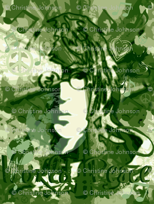 World Peace camo green