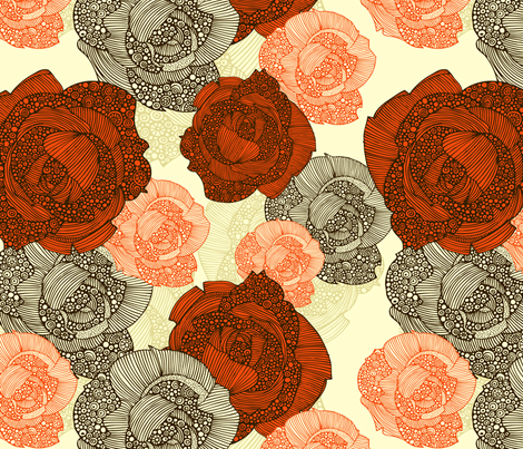 Roses fabric by valentinaharper on Spoonflower - custom fabric