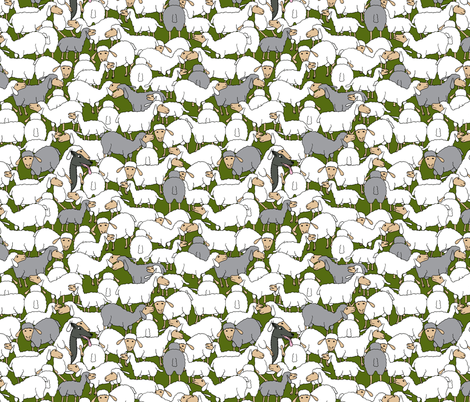 wolf in sheep's clothing - camouflage fabric by annosch on Spoonflower - custom fabric