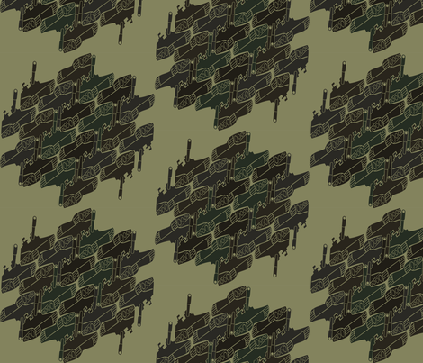Escher Tank Camouflage fabric by starmama on Spoonflower - custom fabric