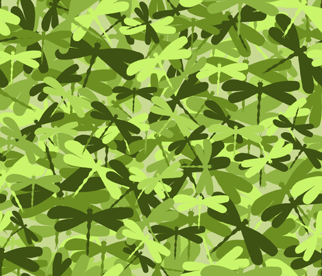 dragonflyge_lime green fabric by uzumakijo on Spoonflower - custom fabric