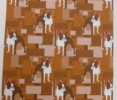 Duke, the Brown Boston Terrier tiles