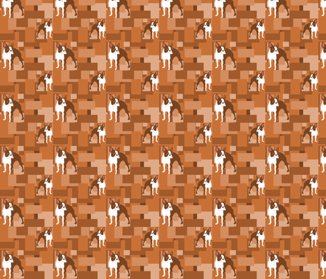 Duke, the Brown Boston Terrier tiles fabric by missyq on Spoonflower - custom fabric