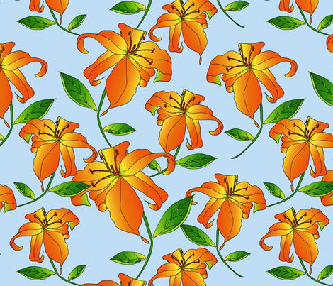 orangelily fabric by plasticsoda&rice on Spoonflower - custom fabric