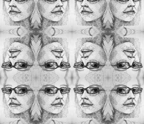self portrait 2 fabric by hollishammonds on Spoonflower - custom fabric