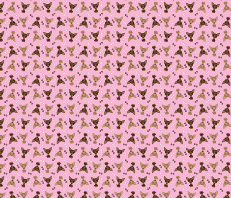 pink_chihuahuas fabric by feralfantasies on Spoonflower - custom fabric