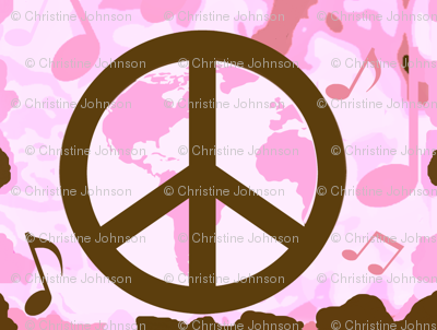Pink camo World Peace