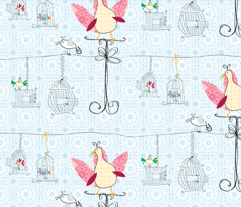 birdcage doors fabric by shiny on Spoonflower - custom fabric