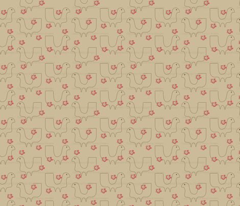 Fancy Brown Lady fabric by sbd on Spoonflower - custom fabric