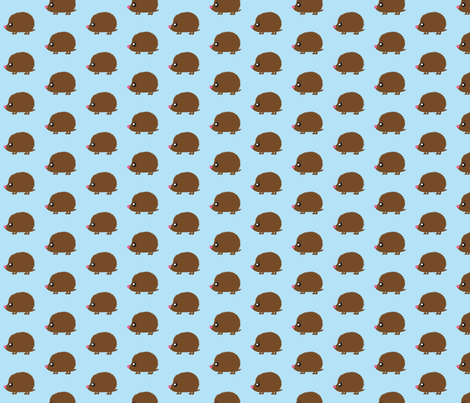 Hedgehog_blueback-2-ed-ed-ed-ed-ed-ed-ed-ed fabric by littlesproutbaby on Spoonflower - custom fabric