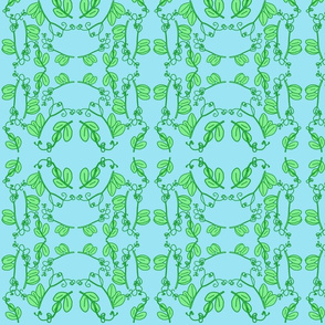 Snap Pea Tendrils Pattern