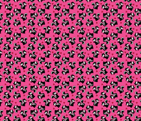 Skunkie Delight fabric by pixeldust on Spoonflower - custom fabric