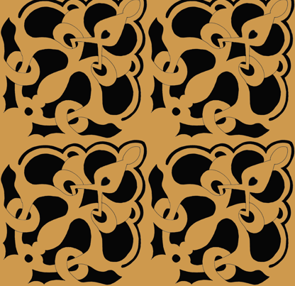 Arabesque fabric by gabindy on Spoonflower - custom fabric