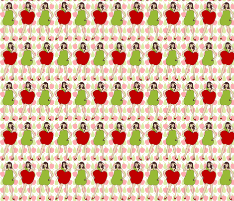 Apple and Pear fabric by kdl on Spoonflower - custom fabric