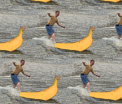 surfing_banana fabric by kaeledra on Spoonflower - custom fabric