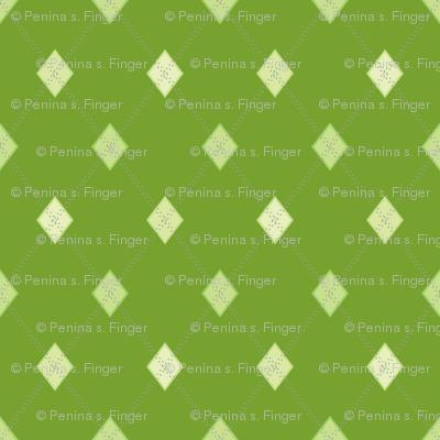 Mini Argyle: Greens