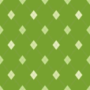 Mini Argyle: Greens