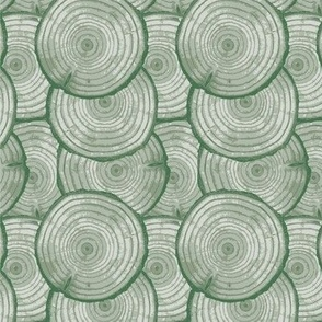 tree rings bright sage