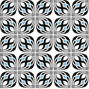 Deco Tile Black Blue