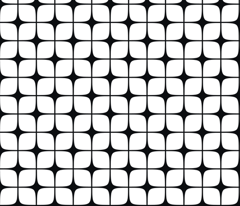 Modern Deco Black & White fabric by flis on Spoonflower - custom fabric