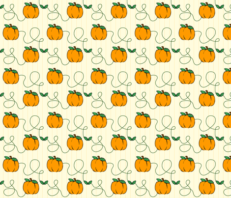 Pumpkin Strings fabric by donnamarie on Spoonflower - custom fabric