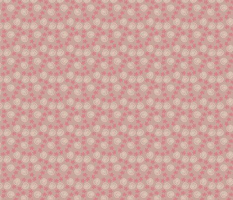 Flower Swirl pink 2 fabric by sbd on Spoonflower - custom fabric