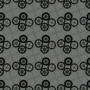 Steampunk Quatrefoil Gears