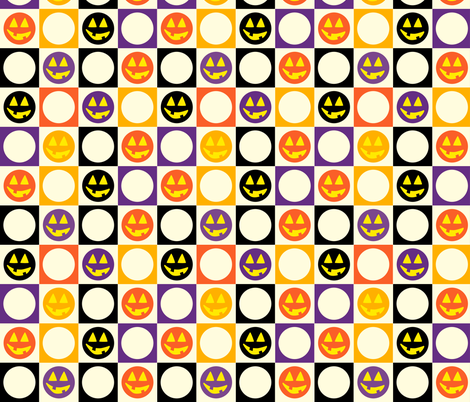 Halloween Squares fabric by donnamarie on Spoonflower - custom fabric