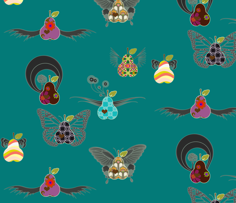 fruit_flies fabric by snork on Spoonflower - custom fabric