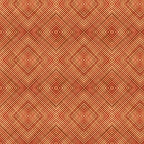 Diamond Weave Orange