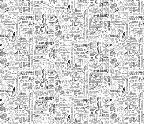 Facdoodle fabric by mel_rodgers on Spoonflower - custom fabric