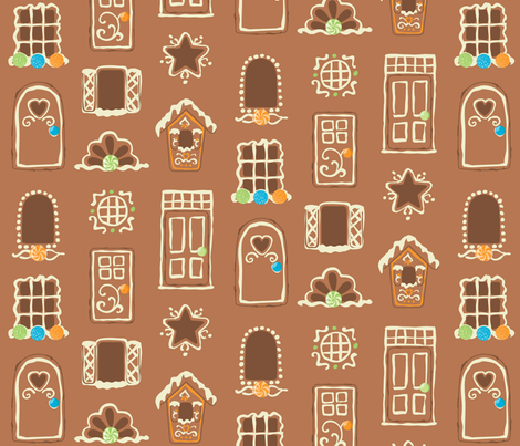 Tasty Doors and Windows fabric by jillianmorris on Spoonflower - custom fabric