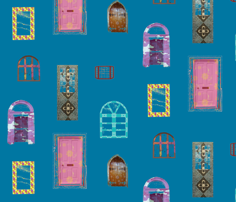 windoors_blue fabric by snork on Spoonflower - custom fabric