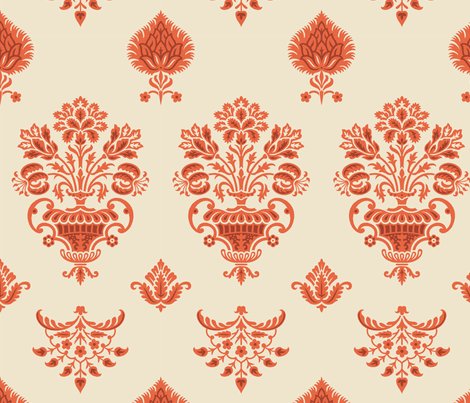 Damask VA2 Alternate a fabric by muhlenkott on Spoonflower - custom fabric