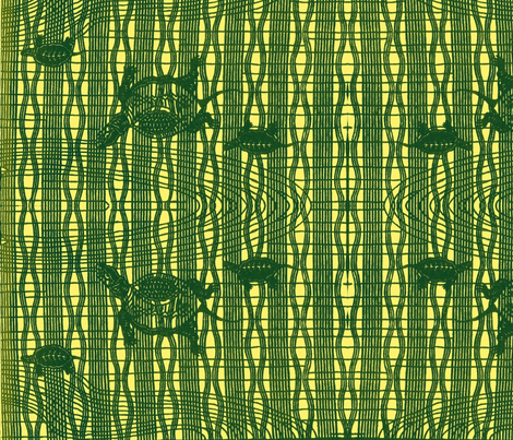 Swimming Turtles fabric by paulamarie on Spoonflower - custom fabric
