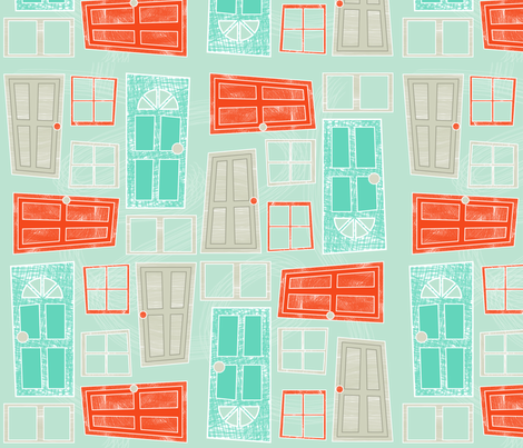 Doors fabric by eedeedesignstudios on Spoonflower - custom fabric